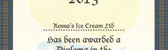 National Ice Cream Competition 2013 – Black Cherry Certificate